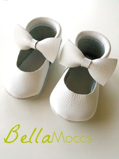 The Bella Mocc   #moccasins #bows #bow moccs #whitemoccasins #diy #diymoccs#ditmoccasins #bellamoccs #ballerinamoccs #handmade #genuineleather #leather #mmfeet