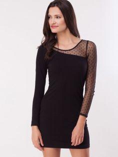 bdb4b99d9 FabAlley Mesh Sleeve Dress purchase from koovs.com Party Dresses Online,  Cold Shoulder Dress