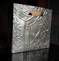 Gilded leather tote/handbag by Lutson Goudleder