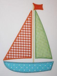 071 Sailboat Machine Embroidery Applique Design