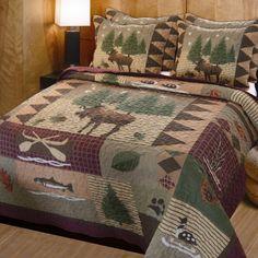 Found it at Wayfair - Moose Lodge 3 Piece Reversible Quilt Set