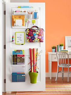 Maximize every available square inch of a storage closet - doors included! A compact basket near the base of the door helps contain the rolls, reinforced by a set of elastic string wraps.