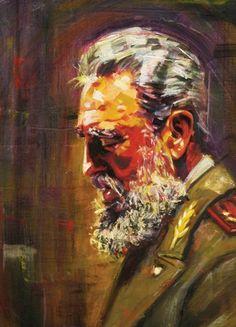 FIDEL by mariostheologis on DeviantArt Che Guevara Tattoo, Cuba Culture, Viva Cuba, Communist Propaganda, Ernesto Che, Fidel Castro, Celebrity Caricatures, Military Art, Aesthetic Art