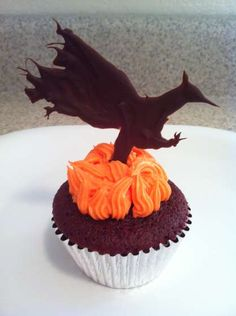 "@Ashley Garback These ones are ""Katniss Spicy Red Velvet Hunger Games Cupcakes"" :)"