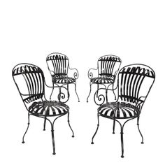 Restored French Wrought Iron Chairs