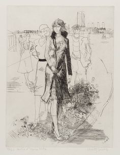 Anthony Gross, 'Sortie d'Usine No. Redfern Gallery Ltd. Gallery, Drawings, Etchings, Illustration, Prints, Artwork, Daniel Levy, Image, Buildings