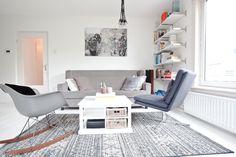 Andere stijlen maar wel dezelfde kleurtinten in de zithoek - bekijk en koop de producten van dit beeld op shopinstijl.nl
