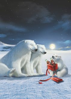coke present coca cola polar bear coca cola santa coca cola christmas world