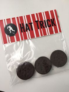 Hat Trick Bag Hockey Birthday Party Treat By SewWonderfullyJamie Etsy