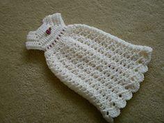 *Free Crochet Pattern: Ravelry: Preemie Angel Shell Gown pattern by Beth Parsons