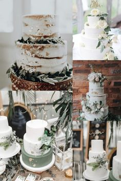 sage eucalyptus wedding cakes - sage green wedding color ideas - greenery wedding cakes Planning a 2020 wedding? We've got some uniquely beautiful ideas---silver sage wedding color. Sage Green Wedding, Lilac Wedding, Wedding Bride, Rustic Wedding, Dream Wedding, Fall Wedding Cakes, Wedding Cake Designs, Wedding Centerpieces, Wedding Decorations