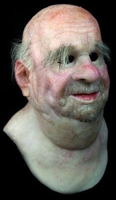 """NEW Hand Made, Pro Realistic Silicone Mask Old Man """"Fred"""" High Quality, Unique. Realistically natural skin appearance, complete with hand-made moles, warts, liver spots, veins, wrinkles and individually-inserted eyebrow, facial hairs.   eBay!"""