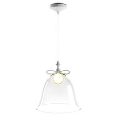 Bell Lamp Medium - Marcel Wanders for Moooi. Glass Bell topped by a ceramic bow.