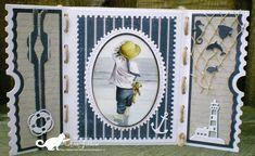 Mini Albums, Ticket Card, Dice Box, Nautical Cards, Beach Cards, Sea Theme, Marianne Design, Unique Cards, Studio Lighting