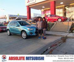 #HappyAnniversary to Raquel Salmeron on your 2013 #Mitsubishi #Outlander from Ibarra Sergio at Absolute Mitsubishi!