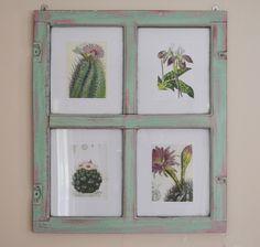Reciclar: de ventana a marco {DIY} / From Window to Frame  project