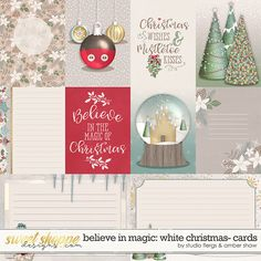 Believe in Magic: White Christmas Cards by Amber Shaw & Studio Flergs Disney Christmas Cards, All Things Christmas, White Christmas, Christmas Time, Christmas Bulbs, Disney Printables, Believe In Magic, Disney Scrapbook, Print And Cut