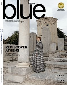 'ARISTOTLE' (Look from our collection on the cover of Blue Magazine - Aegean Airlines ✨ Publication: Blue Magazine Story: Mary Katrantzou Show Journalist: Katerina Anesti Issue: November - December 2019 Arts Award, Mary Katrantzou, You Are The Father, Athens, November, Editorial, Europe, Cover