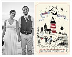 artwork on the invitations like this would be fabulous, with us standing on pearl street and the flat irons in the background?