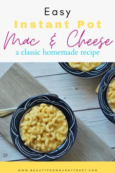A family-pleasing recipe that comes together in the Instant Pot in just a few minutes, this rich and cheesy mac and cheese recipe will soon become a favorite. In the same amount of time it takes to make boxed mac, you can have this homemade classic that wins everytime. Best instant pot recipes. Easy instant pot dinner recipes. Beginner Instant pot recipes. Family instant pot recipes. Vegetarian Instant pot recipes. Best Instant Pot Recipe, Instant Pot Dinner Recipes, Easy Dinner Recipes, Easy Meals, Cheesy Mac N Cheese Recipe, Macaroni And Cheese, Cheap Dinners, Healthy Food Blogs, Kid Friendly Meals