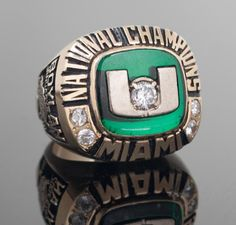 This is Great for Miami Hurricanes Fans! College Football Championship, College Football Teams, Championship Rings, National Championship, Mlb Teams, Hurricanes Football, Miami Hurricanes, College Rings, Super Bowl Rings