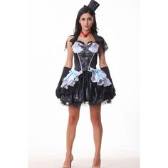 Black Evil Witch Sexy Costume ($52) ❤ liked on Polyvore featuring costumes, black, sexy halloween costumes, evil witch costume, evil costume, sexy costumes and sexy witch halloween costume