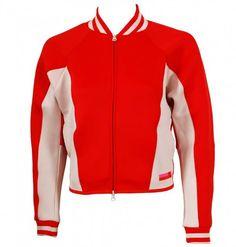 111cdcb0094 Shop adidas Stella Sport Women s Neoprene Jacket Red at Tony Pryce Sports.