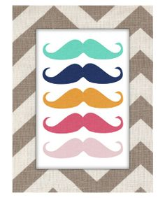 Mustache Canvas Art.