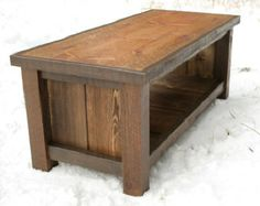 Modern Minimalist Hardwood Bench and Coffee Table by MonkandHoney