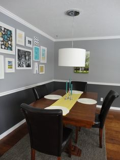 Loving the two-toned wall!
