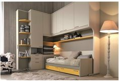 Teenage bedroom with bridge wardrobe CITYNEW 151 Citynew Collection by Doimo CityLine