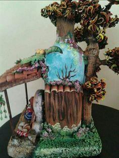 Resultado de imagem para pinterest artesanatogarrafas decoradas