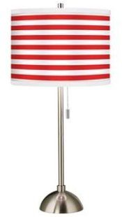 red stripes lamp