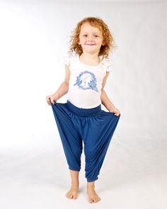 Unisex bamboo genie pants (double as a jumpsuit) and matching bamboo frill top Doodlebug Summer 2014 www.ilovedoodlebug.com.au
