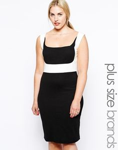 Junarose Colour Block Pencil Dress