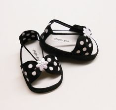 American Girls 18 doll shoes sandals black and by MegOriGirls, $9.00
