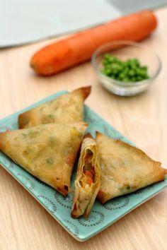 Samoussas de légumes à l'indienne