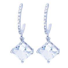 Elegant-Solitaire-Princess-Cut-19ct-CZ-Drop-Earrings