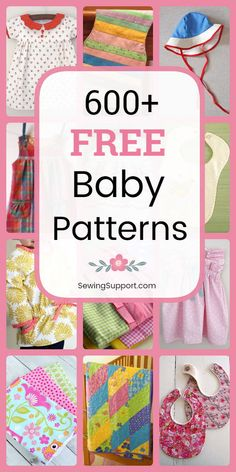 Over 600 diy projects and tutorials. Sew baby clothes bibs burp cloths quilts booties & shoes and more. Many great ideas for diy baby shower gifts. Easy Baby Sewing Patterns, Free Baby Patterns, Baby Sewing Projects, Baby Clothes Patterns, Sewing Projects For Beginners, Sewing For Kids, Free Sewing, Sewing Hacks, Sewing Tips