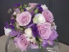 #stembystem bouquet in shades of lilac and purple.