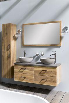 Van Heck Waschtischunterschrank Loft Young - Lilly is Love Home Design, Interior Design, Toilet Room, Loft, Laundry In Bathroom, Bathroom Accessories, Double Vanity, Vintage Designs, Interior Inspiration