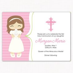 First Communion Invitation Template   Invitation Templates