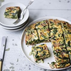 Rachel Allen's Spinach and Bacon Frittata - Woman And Home