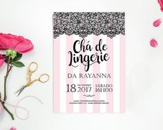 Arte p/ convite chá de lingerie digital