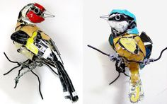 Junkculture: Bird Sculptures Made from Recycled Metals by Barbara Franc