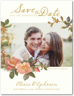Save the Date card - also pretty in lavender