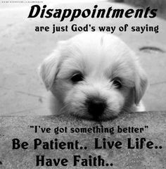 Disappointments quote via Carol's Country Sunshine on Facebook