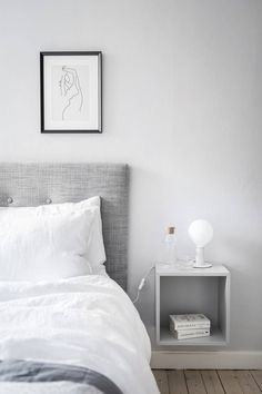 soft greys in bedroom