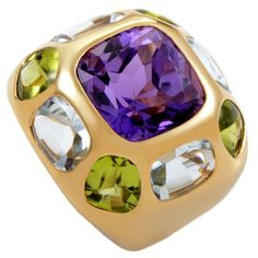 Chanel Baroque Gemstone Gold Ring   From a unique collection of vintage more rings at https://www.1stdibs.com/jewelry/rings/more-rings/