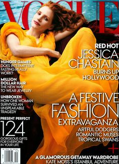 Jessica Chastain for Vogue US December 2013 - First Look